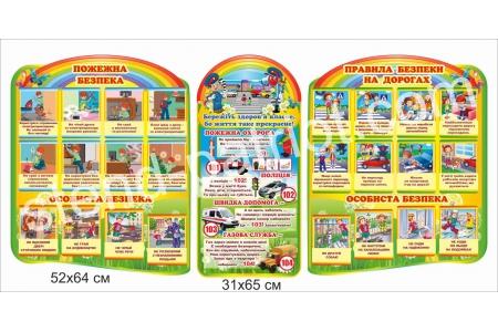 Комплект стендав «Безпека життєдіяльності» для малечі