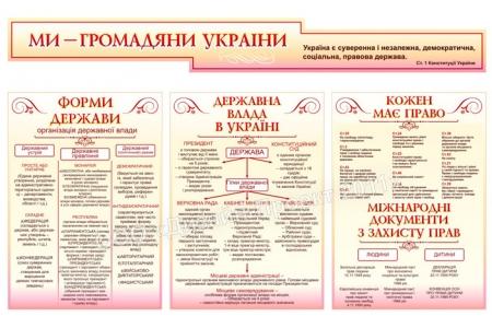 Комплект стендів  «Ми громадяни України»