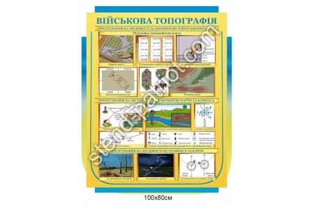 Стенд «Військова топографія»