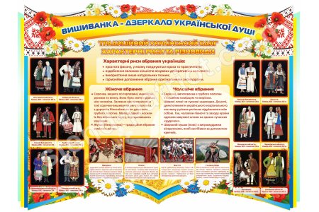 """Стенд """"Традиційний український одяг"""" Stendua - Стенд Україна"""
