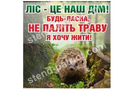 """Вуличний стенд """"Бережіть ліс"""""""