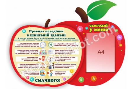Стенд Правила поведінки в шкільній їдальні