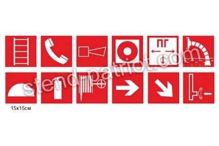 Табличка «Знаки пожежної безпеки»